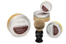 Traditional Men's Shaving Soap, Balm, Brush